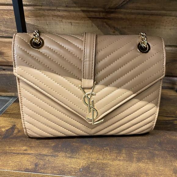 Fashion Hand Bag, Tan/red/gold